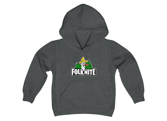 Youth Heavy Blend Hoodie - Folk Nite
