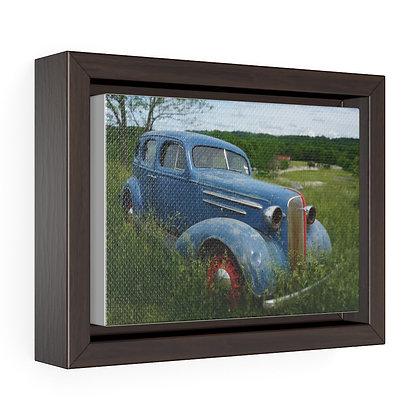 Horizontal Framed Premium Gallery Wrap Canvas - Poppy Car 01
