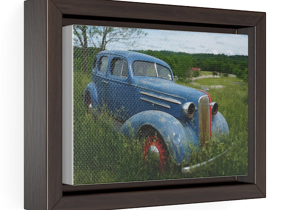 Horizontal Framed Premium Gallery Wrap Canvas - Poppy Car 01