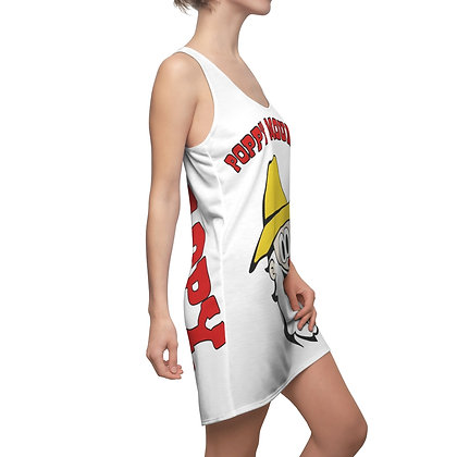 Women's Cut & Sew Racerback Dress - Poppy Mtn Design 03