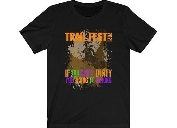 T Shirt Unisex Front Print - Trail Fest 2021 Design 04