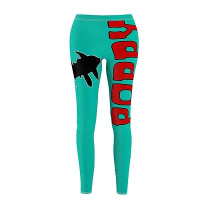 Women's Leggings - Poppy Mtn Design 02 Teal