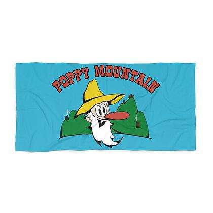 Beach Towel - Poppy Mtn Design 01 Teal