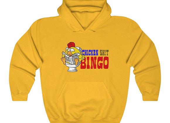 Unisex Heavy Blend™ Hoodie - Chicken Sh!t Bingo 2 Sided Print