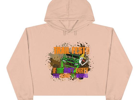 Crop Hoodie - Trail Fest Design 02