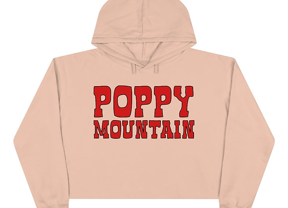 Crop Hoodie - Poppy Mountain