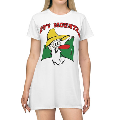 Women's T-Shirt Dress - Poppy Mtn Design 01