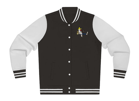 Women's Varsity Jacket - Poppy Mtn Design 02