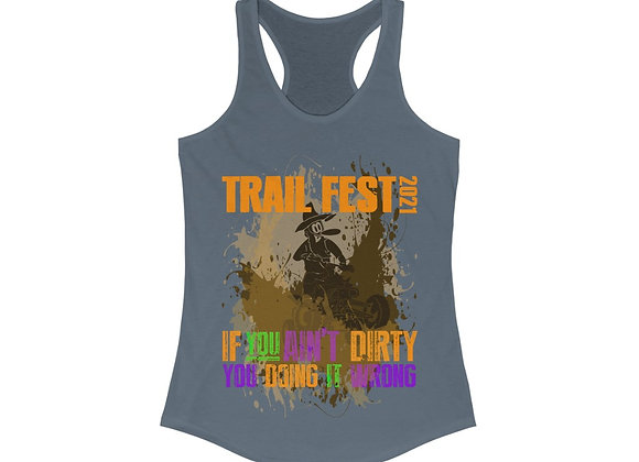 Women's Ideal Racerback Tank - Trail Fest Design 03