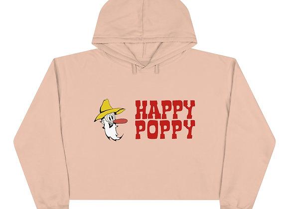 Crop Hoodie - Happy Poppy Design 03