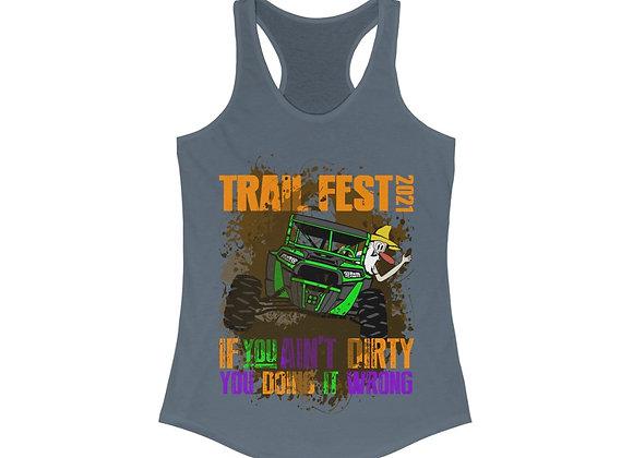 Women's Ideal Racerback Tank - Trail Fest Design 04