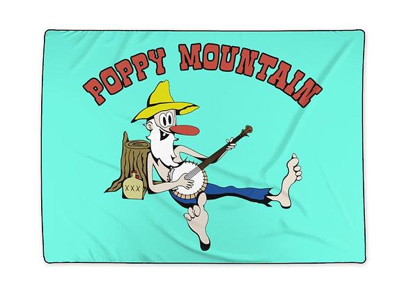 Polyester Blanket - Poppy Mtn Design 02 Teal