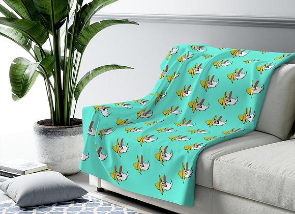 Sherpa Fleece Blanket - Poppy Mtn Design 08