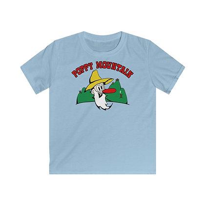 Kids Softstyle Tee - Poppy Mtn Design 01 2 Sided Print