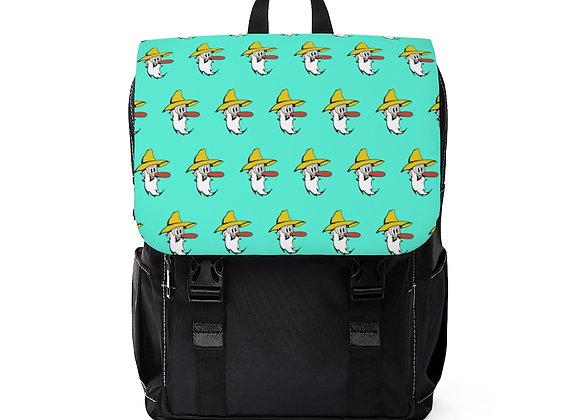 Shoulder Backpack - Poppy Mtn Design 07 Teal