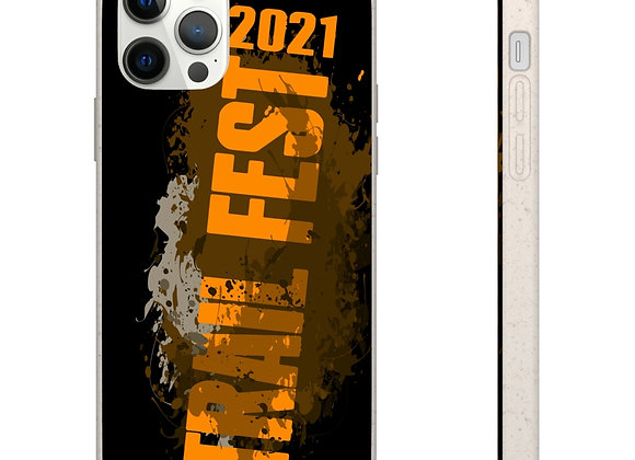 Samsung and iPhone Black Biodegradable Case - Trail Fest 2021