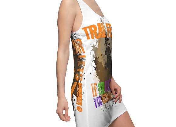 Women's Cut & Sew Racerback Dress - Trail Fest Design 03