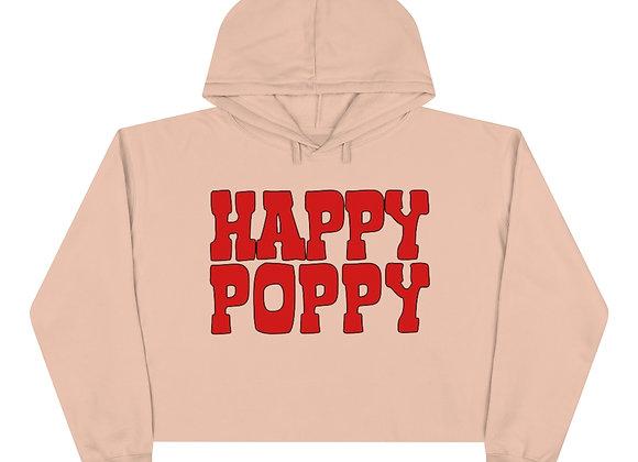 Crop Hoodie - Happy Poppy