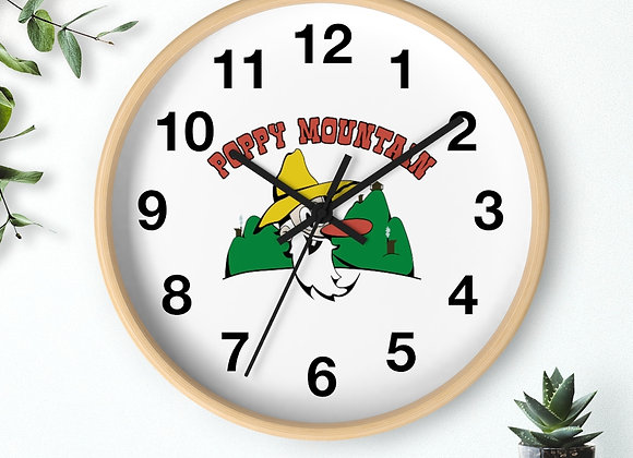 Wall clock - Poppy Mtn Design 01