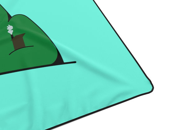 Polyester Blanket - Poppy Mtn Design 01 Teal