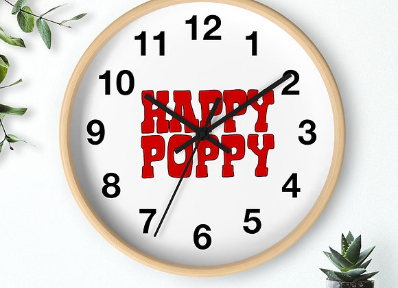 Wall clock - Poppy Mtn Design 06