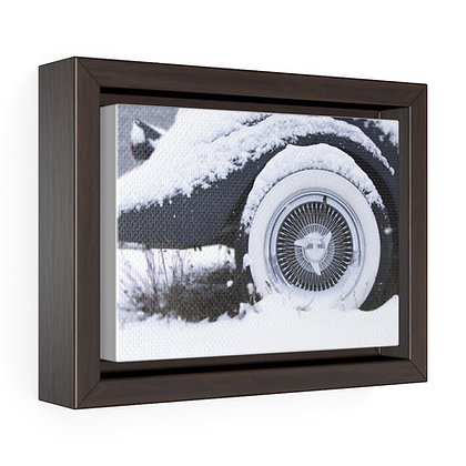 Horizontal Framed Premium Gallery Wrap Canvas - Snow Car 02