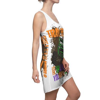 Women's Cut & Sew Racerback Dress - Trail Fest Design 04