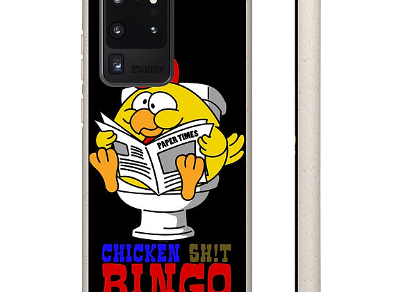 Samsung and iPhone Black Biodegradable Case - Chicken Sh!t Bingo 02