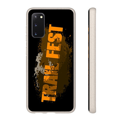 Samsung and iPhone Black Biodegradable Case - Trail Fest