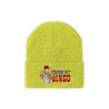 Knit Beanie - Chicken Sh!t Bingo