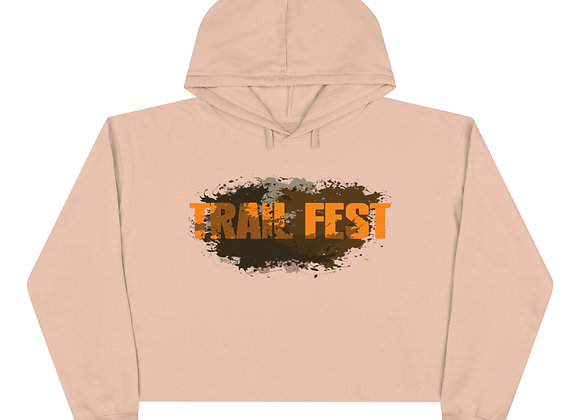 Crop Hoodie 2 Sided Print  - Trail Fest