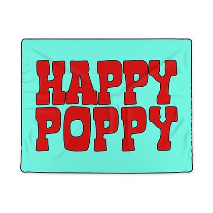 Polyester Blanket - Poppy Mtn Design 06 Teal