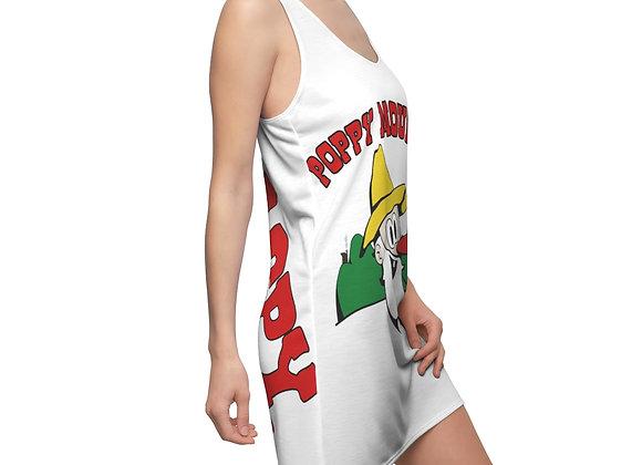 Women's Cut & Sew Racerback Dress - Poppy Mtn Design 01