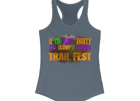 Women's Ideal Racerback Tank - Trail Fest Design 06