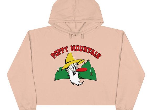 Crop Hoodie - Poppy Mtn Design 01