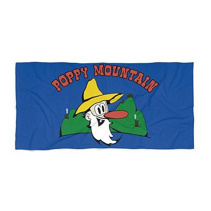 Beach Towel - Poppy Mtn Design 01 Blue