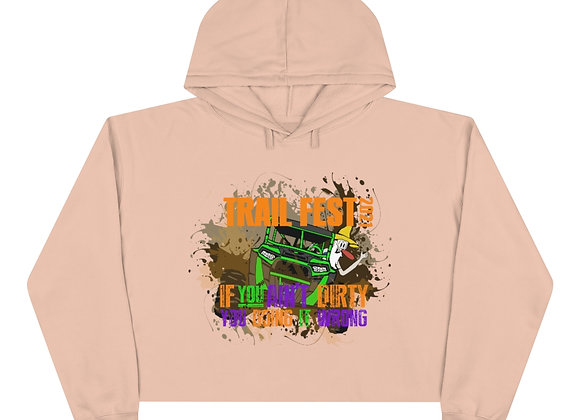 Crop Hoodie 2 Sided Print - Trail Fest Design 02