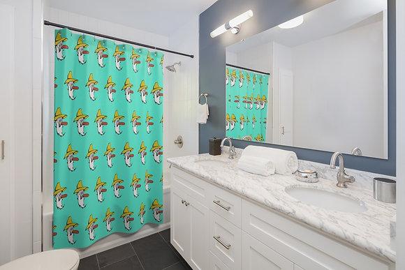 Shower Curtain - Poppy Mtn Design 07 Teal