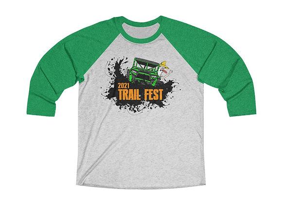 Unisex Baseball Tee - Trail Fest Design 02