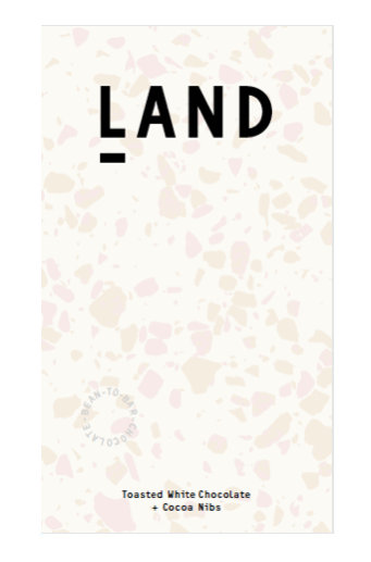 Land Toasted White with Cocoa Nibs 38%