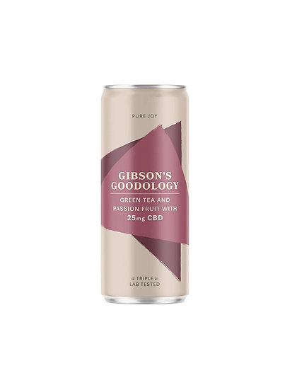 Gibson's Goodology Pure Joy Green Tea & Passion Fruit CBD Drink
