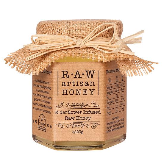 RAW Elderflower Infused Acacia Honey