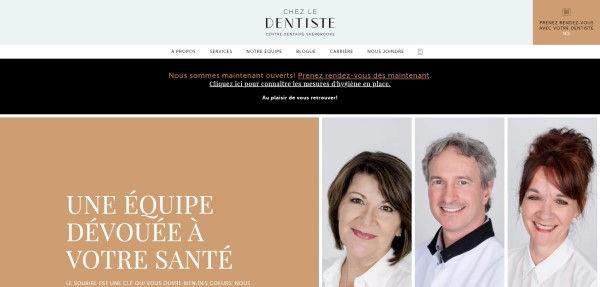 Chez Le Dentiste website
