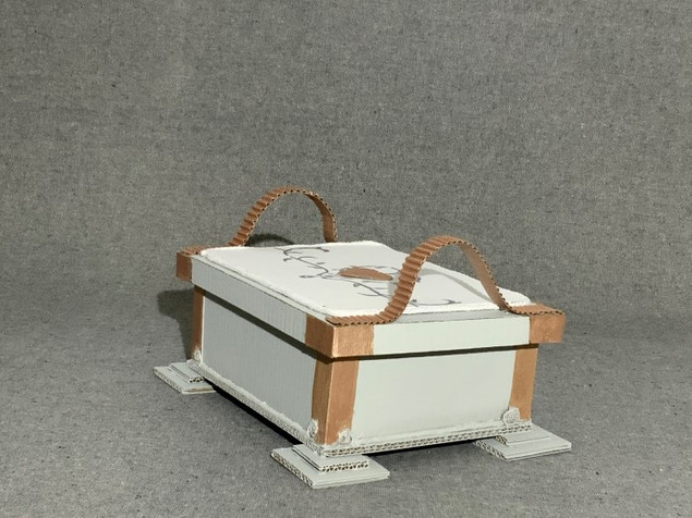 cercueil, vue de face