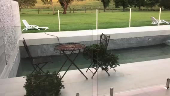 Glass Pool Fencing enhancing this Rural Sunshine Coast property
