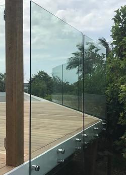 see thru clear fencing Glass Buderim