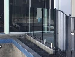 Pool Fence Glass Mudjimba see thru clear