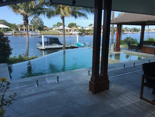 Glass Pool Fencing with Stunning Views