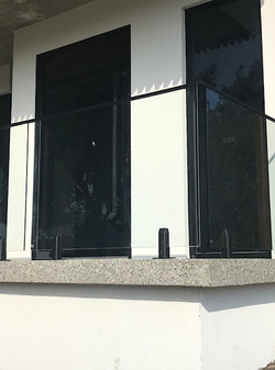 balustrade glass fence see thru clear fe