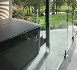 spa glass fence see thru clear fencing